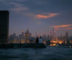 city, city lights, and night image