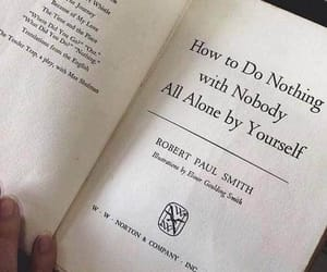 book, alone, and nothing image