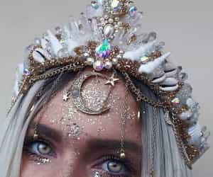 crown, eyes, and aesthetic image