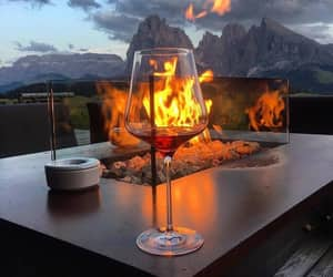fire, wine, and drink image