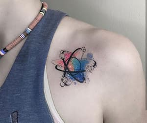 tattoo, atom, and tatto image