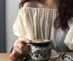 coffee, girl, and aesthetic image