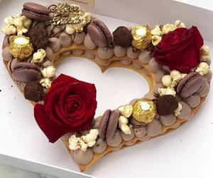 heart, beautiful, and cake image