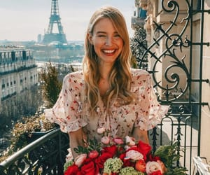 flowers, girl, and france image