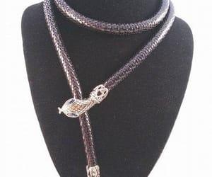 etsy, snake belt, and rhinestone necklace image