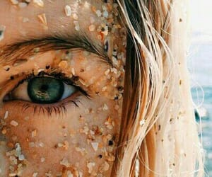 beach, eye, and goals image