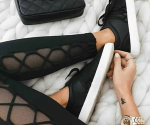 adidas, black sneakers, and girls image