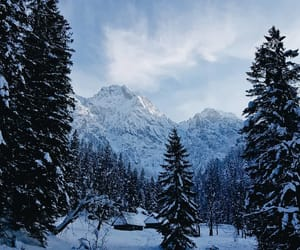 mountains, outdoors, and winter image