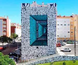 3D art, street art, and 3d street art image