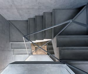 grey, staircase, and stairs image