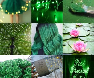 aesthetic, emerald, and fairy lights image