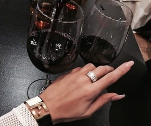 wine, nails, and ring image