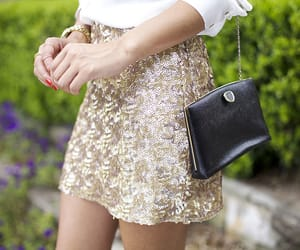 fashion, outfit, and sequin image