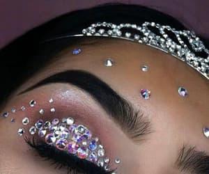 makeup, beauty, and diamond image