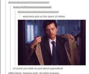 supernatural, tumblr, and castiel image