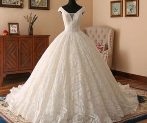 wedding dress, bridal dress, and ball gown wedding dress image