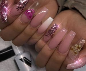 beauty, gold, and nails image