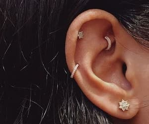 piercing, earrings, and style image