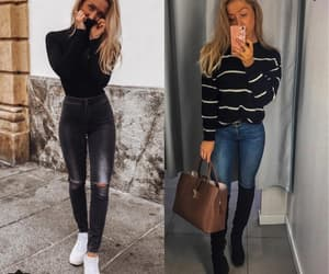jeans, cute outfits, and ootd image