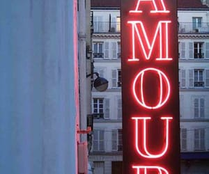 amour, red, and neon image