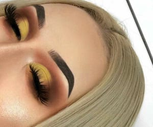 beauty, blonde, and eye makeup image