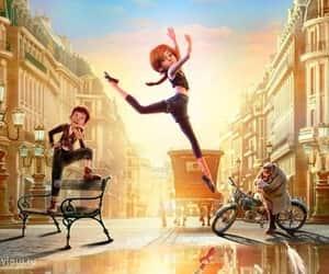 ballerina and cartoon image