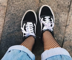aesthetic, fishnet, and sneakers image