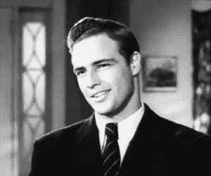 marlon brando, gif, and Hot image