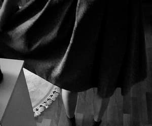 aesthetic, black and white, and dress image