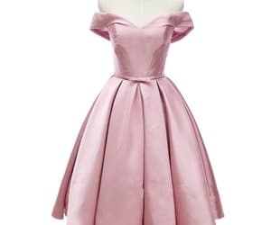 party dress, pink dress, and homecoming dress image