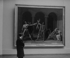 art, black and white, and museum image
