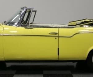 cars, yellow, and convertible image
