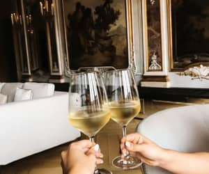 champagne, glasses, and place image