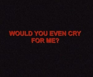 alone, cry, and for you image