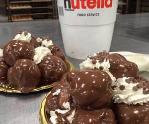 butter, nutella, and snacks image
