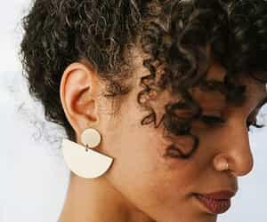 bun, curly hair, and natural hair image