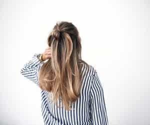 hair, fashion, and stripes image