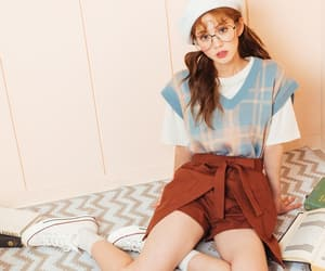 asian, fashion, and glasses image