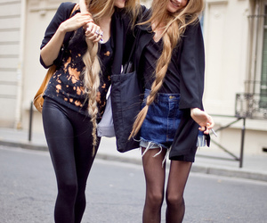 braid, long hairs, and fashion image