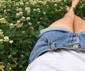 flowers, jeans, and short image
