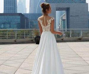wedding dress, bride, and white image