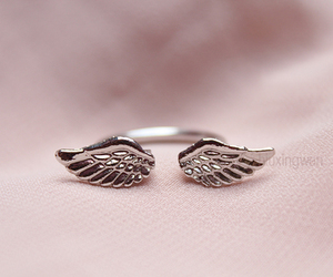 ring, wings, and pink image