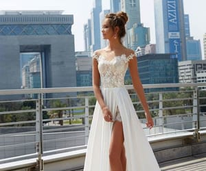 bride, white, and wedding image