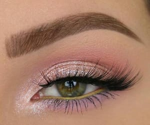 makeup, girl, and eye image