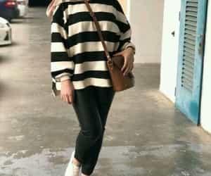 striped sweatshirt hijab image