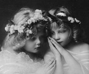 angel, vintage, and black and white image