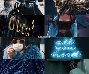 astrology, blue, and gucci image