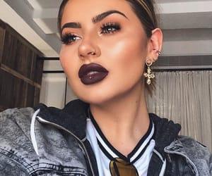 beauty, false eyelashes, and makeup image