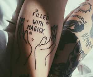tattoo, magic, and hands image