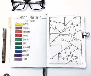 agenda, journal, and mood tracker image